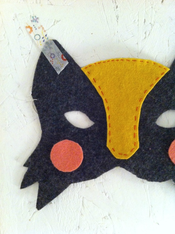 DIY masque feutrine carnaval