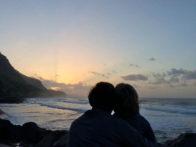 Tenerife Playa del Socorro beach sunset